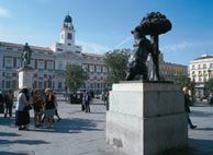 Statue of the Bear and the Strawberry Tree in the Puerta del Sol square
