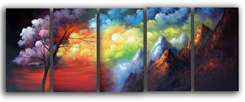 Vivid Sky Abstract Art