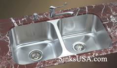 equal double bowl undermount stainless steel kitchen sink