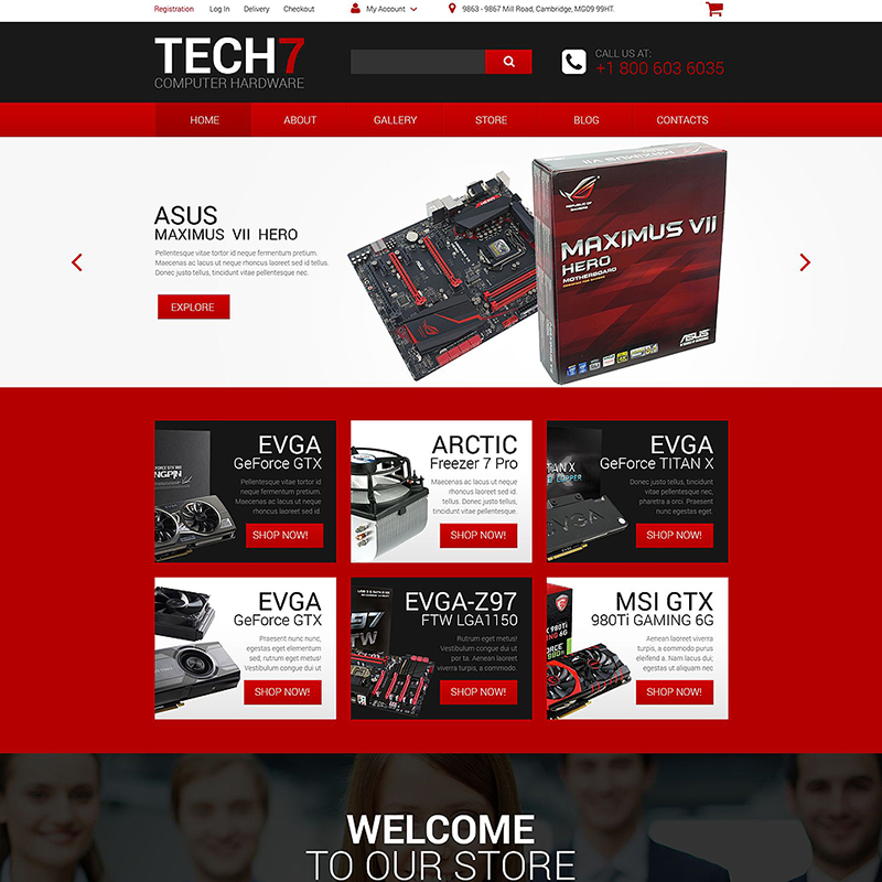 Computer Hardware WooCommerce Template